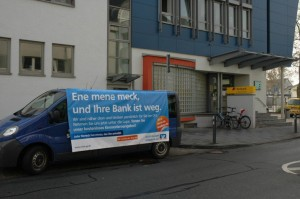 Ambient Media von der Volksbank Gross-Gerau